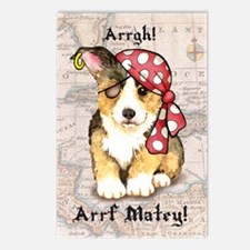 Welsh Corgi Pirate Postcards (Package of 8)