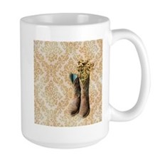 cowboy boots damask western country Mugs