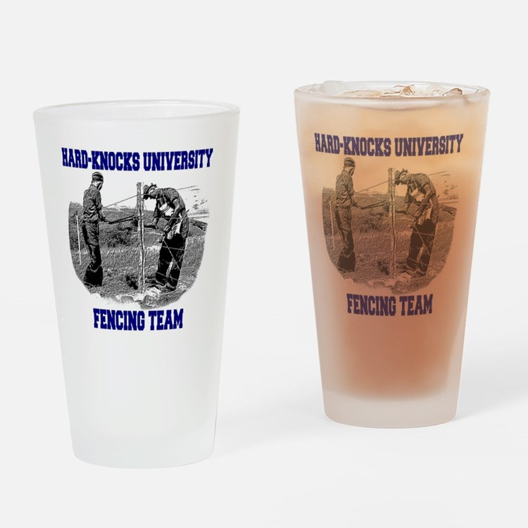 Fencing Team Drinking Glass