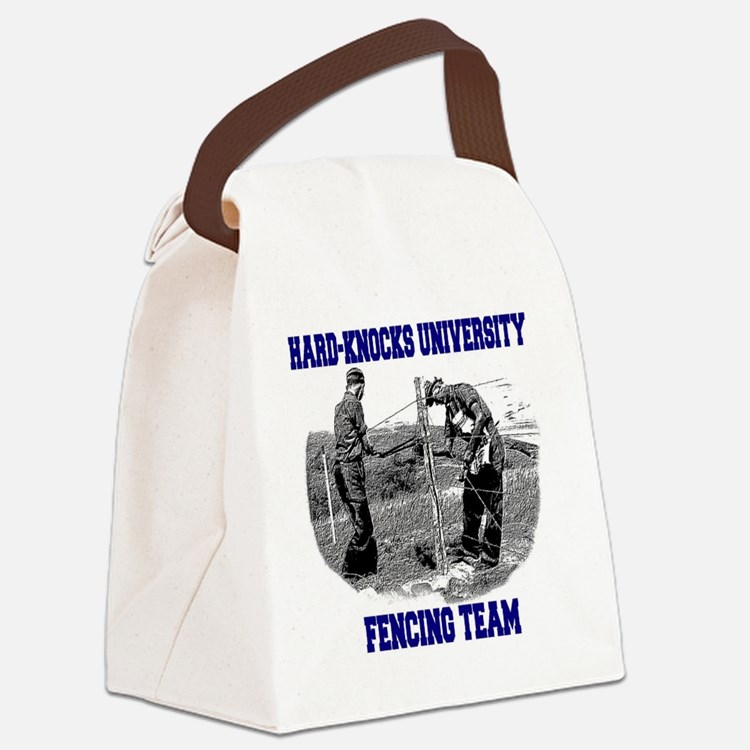 Fencing Team Canvas Lunch Bag