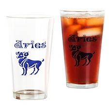 Aries Drinking Glass