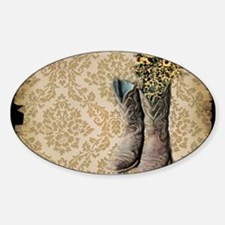cowboy boots damask western country Decal