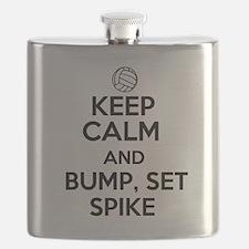 Keep Calm and Bump, Set, Spike Flask