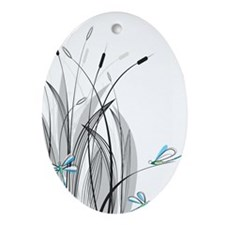 Dragonflies Ornament (Oval)