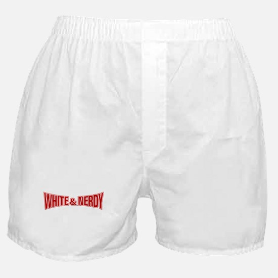 Cute White and nerdy Boxer Shorts