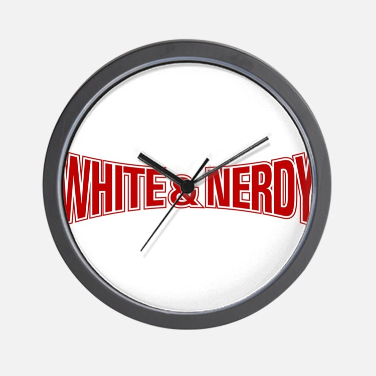 Cute White and nerdy Wall Clock