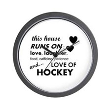 This House Runs On Hockey Wall Clock