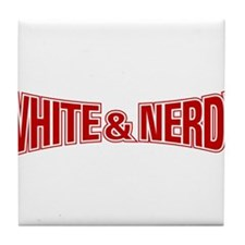 Cute White and nerdy Tile Coaster