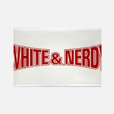 Cute White and nerdy Rectangle Magnet