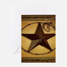 barn wood texas star western fashion Greeting Card
