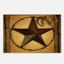 barn wood texas star western fashion Postcards (Pa