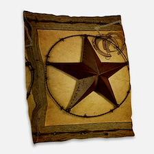 barn wood texas star western fashion Burlap Throw