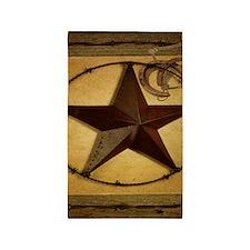 barn wood texas star western fashion 3'x5' Area Ru