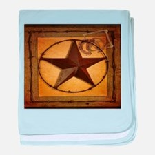 barn wood texas star western fashion baby blanket
