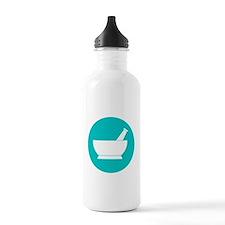 Aqua circle mortar and Water Bottle