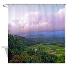 A Land Called Hanalei Tropical Shower Curtain