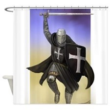 Funny Crusader Shower Curtain