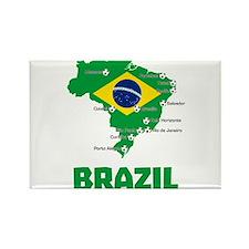 Brazil Soccer 2014 Magnets