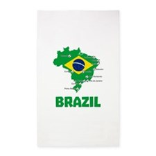 Brazil Soccer 2014 3'x5' Area Rug