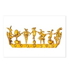 gold crown with bunnies dancing plus carrots eggs