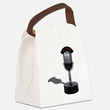 OnAirPillMicrophone042211.png Canvas Lunch Bag