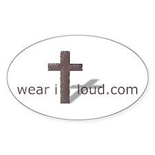 Wear it Loud Gear Oval Decal
