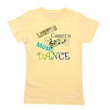 Lights Camera Music Dance Girl's Tee