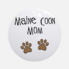 Maine Coon Mom Ornament (Round)