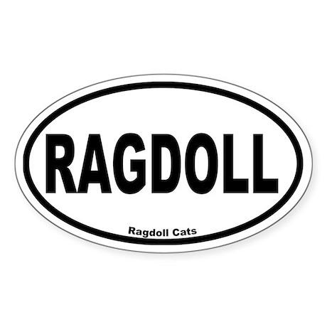 Ragdoll Oval Oval Sticker