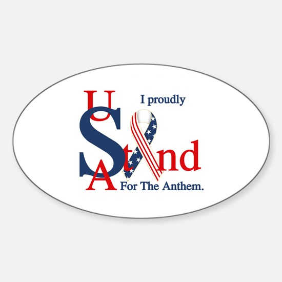 Usa Stand For Anthem Decal