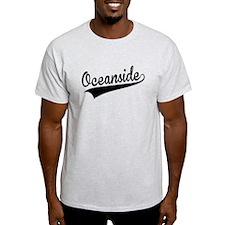 Oceanside, Retro, T-Shirt