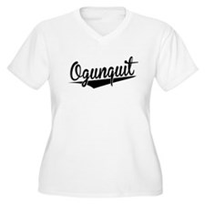 Ogunquit, Retro, Plus Size T-Shirt