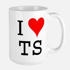 I Love TS Large Mug