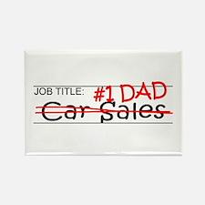 Job Dad Car Sales Rectangle Magnet