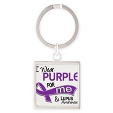 D I Wear Purple For Me 42 Lupus Keychains