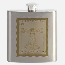 Vitruvian Man, Leonardo  Flask