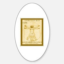 Vitruvian Man, Leonardo  Sticker (Oval)