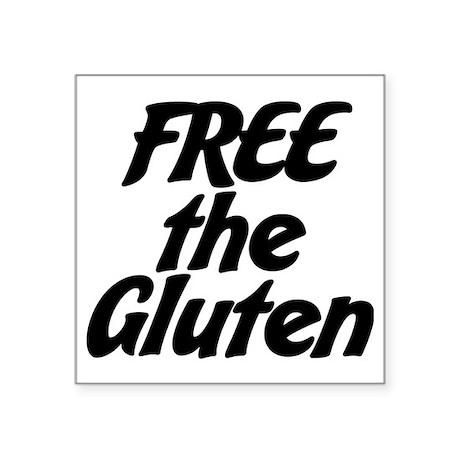 """FREE the Gluten Square Sticker 3"""" x 3"""""""