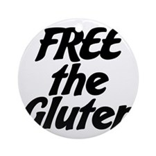 FREE the Gluten Round Ornament