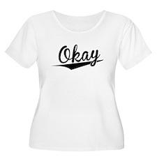 Okay, Retro, Plus Size T-Shirt