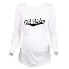 Old Ripley, Retro, Long Sleeve Maternity T-Shirt