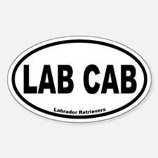 Lab Cab Oval Bumper Stickers