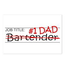 Job Dad Bartender Postcards (Package of 8)