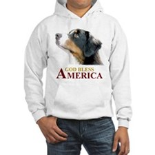 God Bless America Hoodie (with Dog)