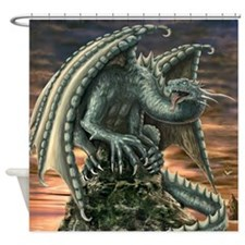 Large Dragon Shower Curtain
