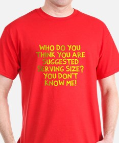 Suggested Serving Size T-Shirt
