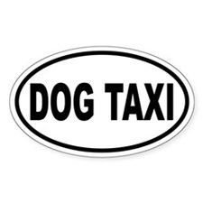 Dog Taxi Oval Decal