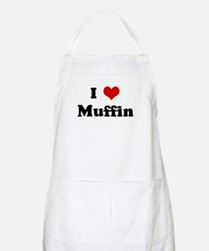 I Love Muffin BBQ Apron