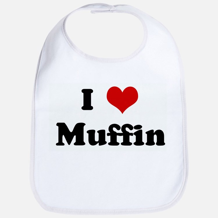 I Love Muffin Bib