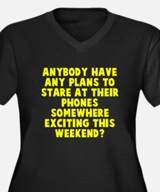 Phones Weekend Plus Size T-Shirt